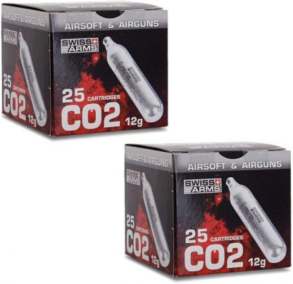 50 cartouches Co2 - Swiss Arms Sparclettes
